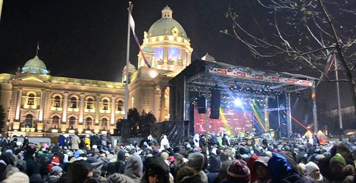 Docek Nove godine na Trgu Beograd 2017